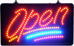 Led Open Sign Script With 3 Lines