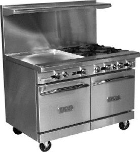 Royal Range Rr 4g24 Commercial 48 Gas Range With 4 Burners 24 Griddle new