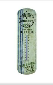 Primitive Antique Vintage Style Farmhouse Grain Sack 1836 Seed Thermometer New