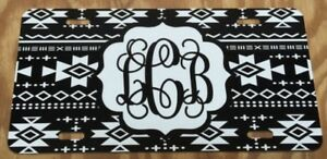 Monogram License Plate Aztec Personalized Car Tag New