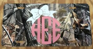 Monogram License Plate Camouflage Personalized Car Tag New