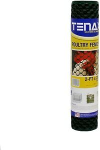 Poultry Hex Fence Will Not Rust Or Corrode Heavy Duty Plastic 2 Ft X 25 Ft