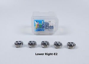 20pcs Dental Kid Primary Molar Crown Lre2 Stainless Steel Preformed Pediatric
