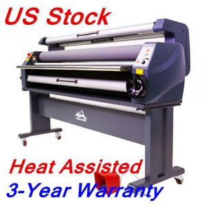 Us Stock 63 Luxury Heat Assisted Cold Laminator Full Auto Wide Format Machine