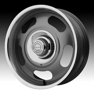 American Racing Vintage Vn506 Rally Gray 17x8 5x4 75 5x5 0mm Vn50678006400