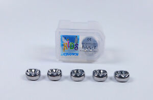 20pcs Dental Kid Primary Molar Crown Ule7 Stainless Steel Preformed Pediatric