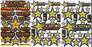 New 3 Rockstar Energy Motocross Racing Graphic Stickers decals Sheets set6
