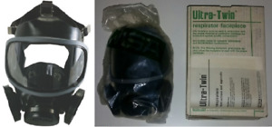 Msa Ultra twin Respirator Chemical Mask Full Facepiece 471329 Small New Black