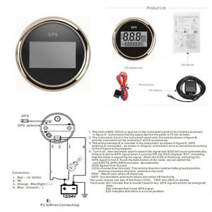 52mm Gps Digital 0 999 Knots Speedometer Gauge For Car Truck Motorcycle Marine