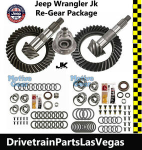 Jeep Wrangler Jk Dana 44 30 Jeep Gear Set 5 13 Ratio Master Kit F Carrier