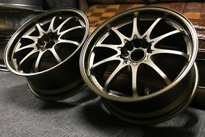 18 Rays Engineering Volk Racing Ce28n 18x8 5 30 5x114 240sx 300zx Rx7 Sti Evo