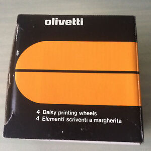 Olivetti 4 Pack Of Daisy Wheels 87668s 10 Courier 189 Typewiter