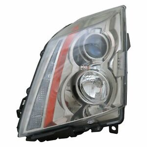 Capa Certified Headlight For 2008 2014 Cadillac Cts Left Hand Halogen W bulbs