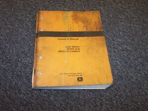 John Deere 544 544a Wheel Loader Shop Service Technical Repair Manual Tm1002