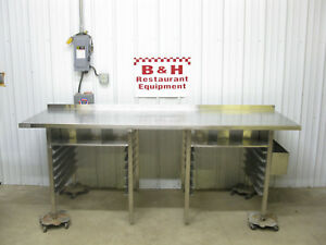 Spg 96 X 30 Stainless Steel Work Prep Bakery Table W Sheet Pan Rack 8