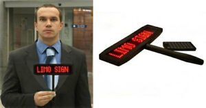 Led Programmable Holding Sign With Battery Operation