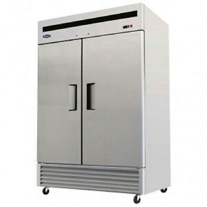 Atosa Mbf8503 Stainless Steel 2 Door Commercial Freezer