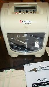 Comix Mt8800 Punch Card Time Recorder