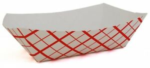Southern Champion Tray 0433 1000 Southland Paperboard Red Check Food Tray 10 l