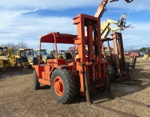 Taylor 16 000 Lb Rough Terrain Fork Lift With 6200 Hours Tilt And 15 Max Lift