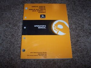 John Deere 540g 548g 640g 648g 748g Skidder Owner Operator Maintenance Manual