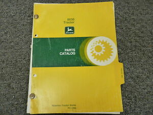 John Deere 8630 Generation Ii Series 4wd Tractor Parts Catalog Manual Pc1486