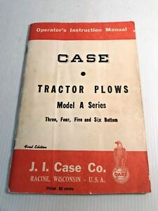 Case Model A Series Tractor Plow 3 4 5 6 Bottom Parts Book Catalog Manual First