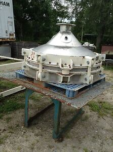 Used Stainless Steel Bin Activator 48 Dia