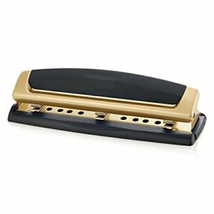 Swingline 3 Hole Punch Adjustable Two three Hole Puncher 10 Sheets Precision