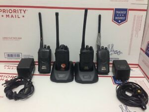 Lot Of 4 Kenwood Tk 2160 Vhf Portable Radios With Chargers