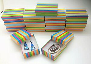 15 Rainbow Stripes Jewelry Gift Boxes Cotton Fill 3 1 16x2 1 8x1 Earring Pin Box