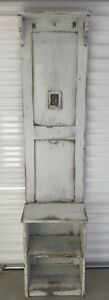 Antique Rustic Czech Republic Painted Pine Hall Tree Stand Hanging Rack H 75 In