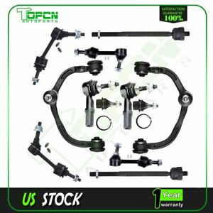 12 Front Rear Sway Bar Upper Control Arms Suspension Kit For Ford Expedition