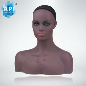 Plastic Mannequin Wig Head Bust Display Hat Cap Glasses Holder Stand Dc 7645