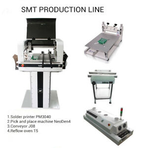 Smd Prototype Line Pick And Place Machine Neoden4 reflow Oven solder Printer J