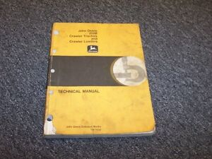 John Deere 350b Crawler Bulldozer Loader Tractor Service Repair Manual Tm1032
