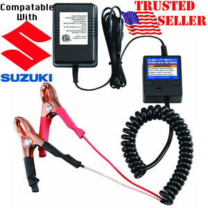 Suzuki Motorcycles 12 Volt Battery Maintainer Tender Float Smart Charger