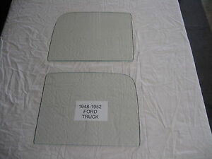1950 Ford Truck Door Glass Set Clear