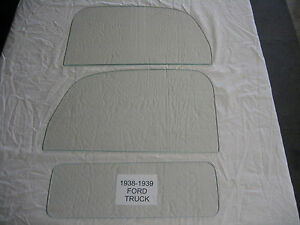 1938 1939 Ford Pickup Truck Glass Set Clear New