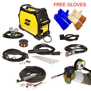 Combo Spool Gun And Esab Rebel Emp 215ic Welding Machine Tig