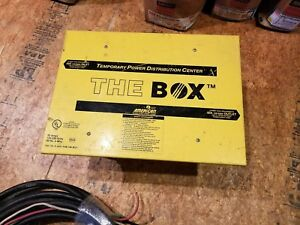 Temporary Power Distribution Box With Cable 50 Amp 125 250 Volts 60hz 4 wire