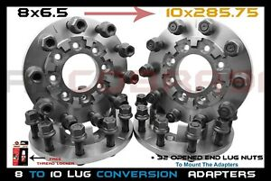 4 Pc 8 To 10 Lug 8x6 5 To 10x285 75 Mm Wheel Adapters 22 5 24 5 Semi Wheels