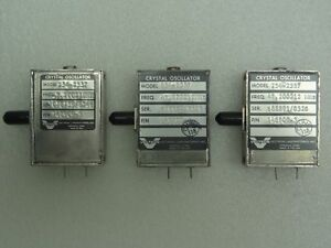 Lot Of 3 Vectron Model 254 2357 Crystal Oscillators P n 148909 3 47 200212 Mhz