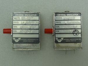 Lot Of 2 Vectron Model 254 2357 Crystal Oscillators P n 129235 2 47 516980 Mhz