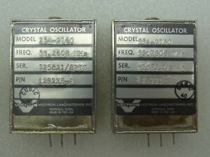 Lot Of 2 Vectron Model 254 2160 Crystal Oscillators P n 129225 1 53 2608 Mhz