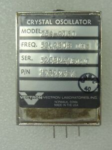 Vectron Model 254 2160 Crystal Oscillator P n 129225 1 53 2608 Mhz