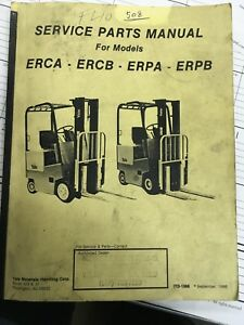 Yale Forklift Service And Parts Manual