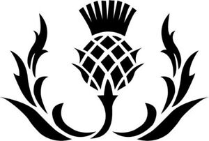 Scottish Thistle Flower Scotland Car Window Vinyl Decal Sticker