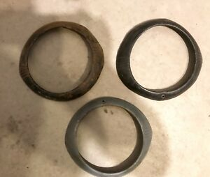 1947 Chevrolet Vintage Auto Headlight Rings Bezels 2 Painted Black 1 Premiered