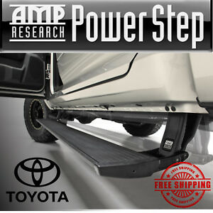 Amp Powerstep Automatic Power Retractable Lighted Step Bars 16 19 Toyota Tacoma